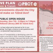 122nd Ave Plan Open House