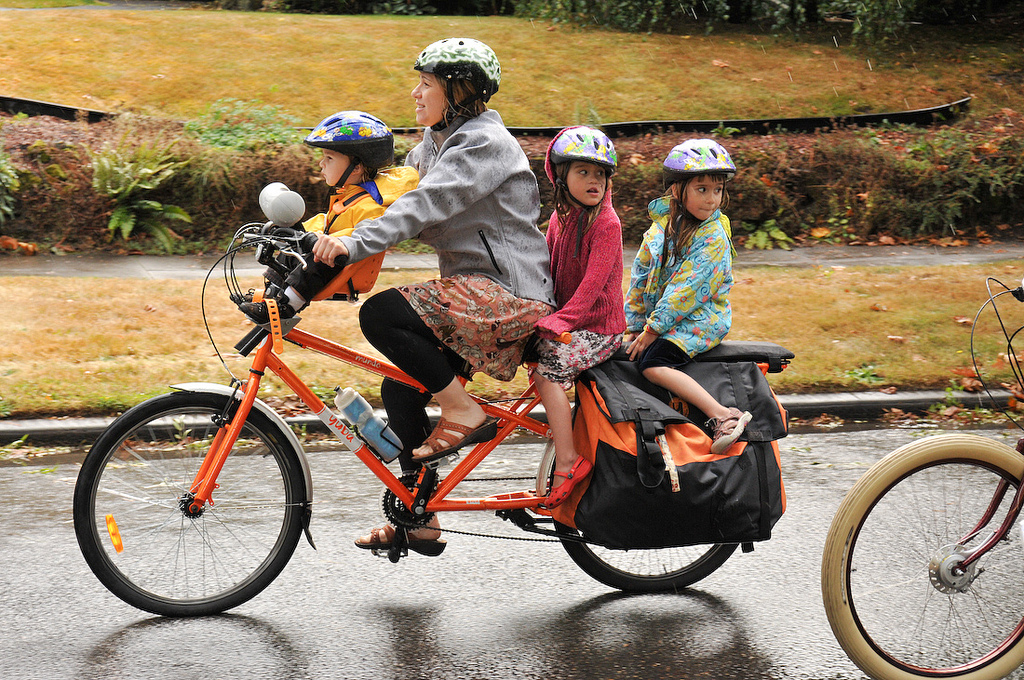 family biking what s your favorite rain gear i asked my kids too