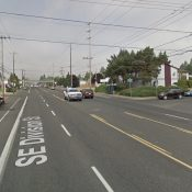 Two drivers arrested after a woman was killed walking across SE Division last night