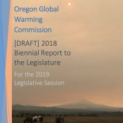 Oregon Global Warming Commission releases draft report to legislature