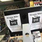 Oregon's bike tax revenue is far below expectations, while admin overhead is going up