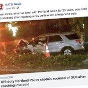 PPB Captain gets driver's license suspended as part of reckless driving, DUI charges
