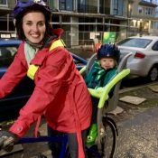 Family biking profile: New(ish) rider Kaylen Boroff and her toddler take to the streets