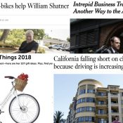 The Monday Roundup: Oprah's e-bike, California's driving problem, e-scooter fatality, and more