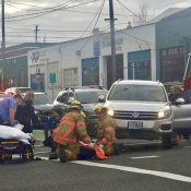 Bicycle rider injured in right hook collision on SE 7th at Hawthorne