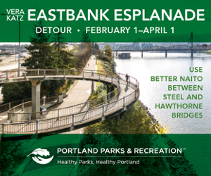 Esplanade is closed Feb through April 1