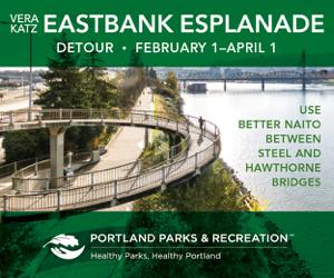 Esplanade is closed Feb through April 1