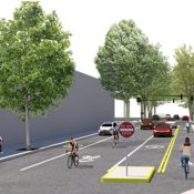 Here are the latest proposals for the NW Flanders Bikeway and carfree bridge