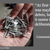 """Commish Eudaly's office works with police to solve """"deliberate act"""" of nails in Interstate Ave bike lanes"""