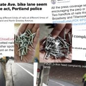 Want $1,000? Help us solve the mystery of nails in the Interstate Ave bike lane