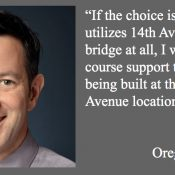 State Rep Rob Nosse says he supports Gideon Overcrossing at 14th Avenue