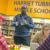 Tubman Middle School parents meet school and city staff to discuss traffic safety issues