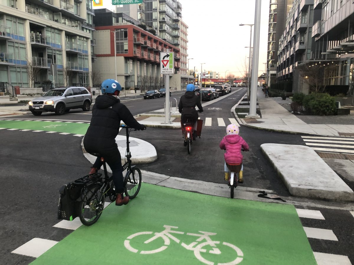 Biking Through Vancouver Bc S Protected Intersection
