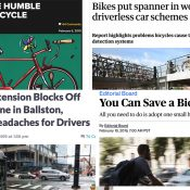 The Monday Roundup: Cycling's solace, dooring breakthrough, climate panic, and more
