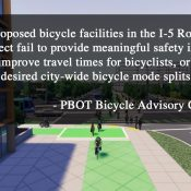 PBOT's biking and walking committees oppose I-5 Rose Quarter project
