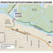 Route Advisory: Columbia Slough Bike/Ped Bridge to close for 90 days