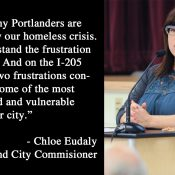 PBOT Commissioner Chloe Eudaly's statement on I-205 path conditions