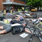 "Protestors will stage ""die-in"" at ODOT headquarters today"