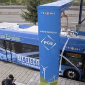 TriMet launches new zero emission, wind-powered electric buses
