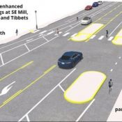Project will reduce driving space, add safer bikeways and crossings to SE 162nd Avenue