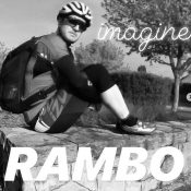 Weird but true: His bike commute inspired a series of album cover parodies