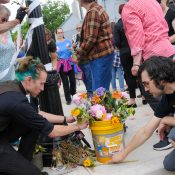 Friends and family join road safety activists to remember Lou Battams