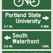 New bikeway signage to 'encourage people to get out of their automobiles' coming to South Waterfront