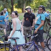 This Pedalpalooza ride paid homage to the color teal, and nearly 100 people showed up