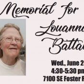 Memorial planned for Louanna Battams on SE Foster Road tonight