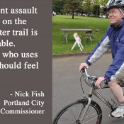 Parks Commissioner Fish says Springwater will get more bike patrols following assault