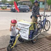 Meet Skip Spitzer; a carfree, climate-change-fighting, single dad