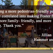Foster Road business owners thank City Council for new bike lanes, safer street design