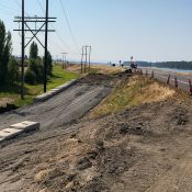 Work has begun on new section of Marine Drive bike path