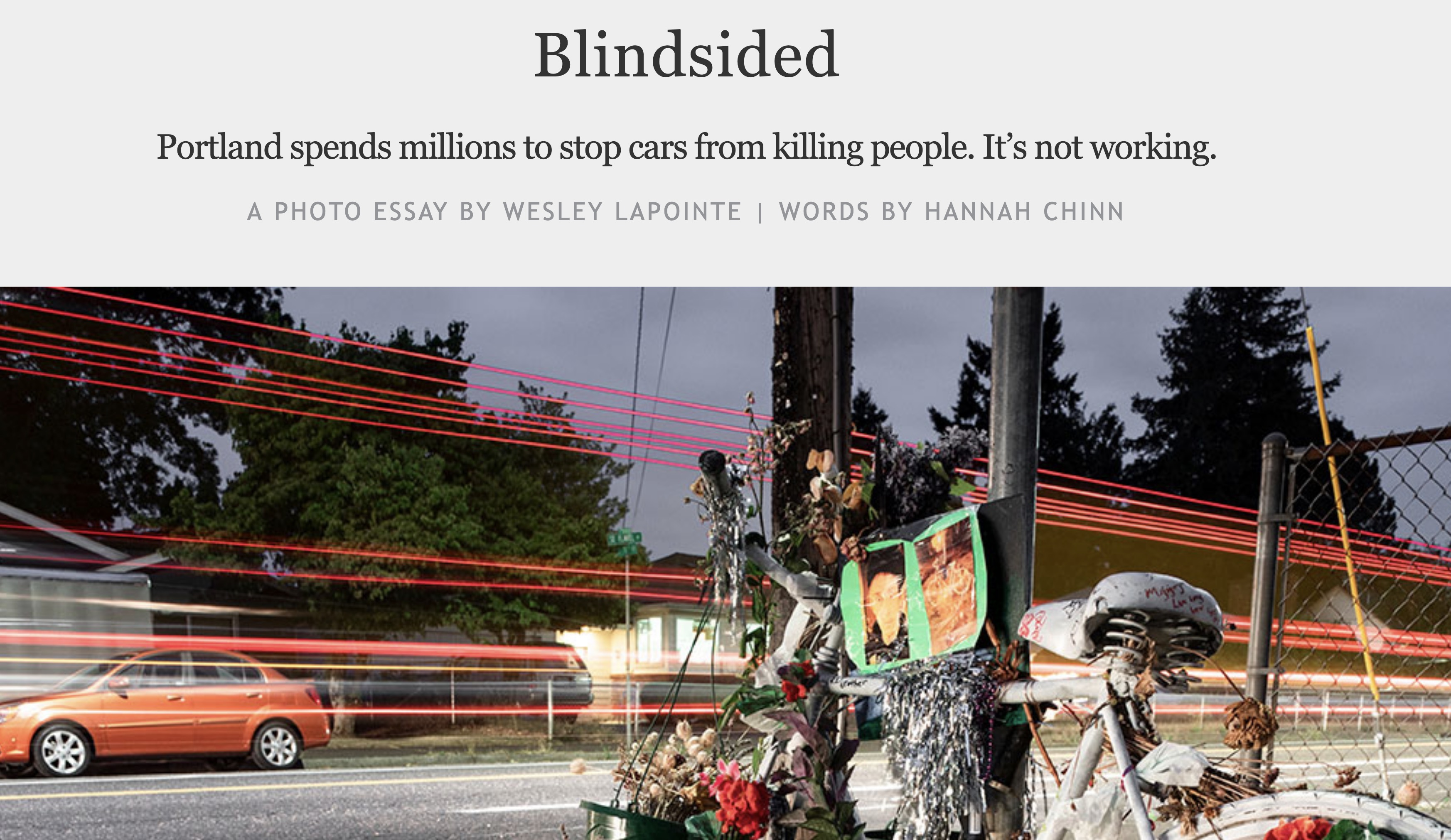 Willamette Week: Portland's Vision Zero efforts