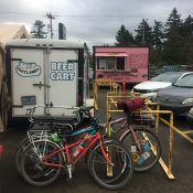 Family Biking: Food cart pods are almost the perfect spot for bikes, kids, and pets