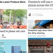 The Monday Roundup: Pizza-by-bike, curb management, bike subscriptions, and more