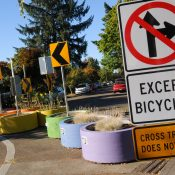 Traffic diverters get painted and bring neighbors together in north Portland