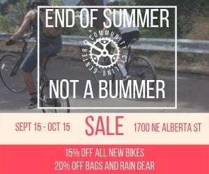 Big sale at Community Cycling Center