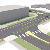 Medians, new bike crossings coming to NE Tillamook at 21st