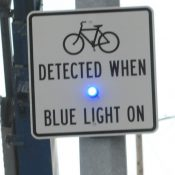 Blue light for bike riders part of detection research project