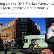 San Francisco bans cars on major downtown street: Now it's Portland's turn