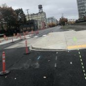NW Front/Naito gets fewer driving lanes, new bike lanes and better transit stops
