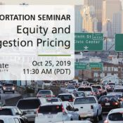 Equity and Congestion Pricing - Seminar