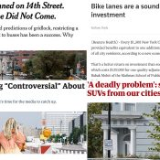 The Monday Roundup: Bike lane ROI, SUV insanity, emissions map, and more