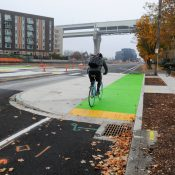 Project updates: Red lanes, separation on Rosa Parks Way, N Vancouver goes green, NW Front and more
