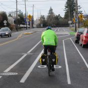 First look at buffered bike lanes on North Denver Ave in Kenton