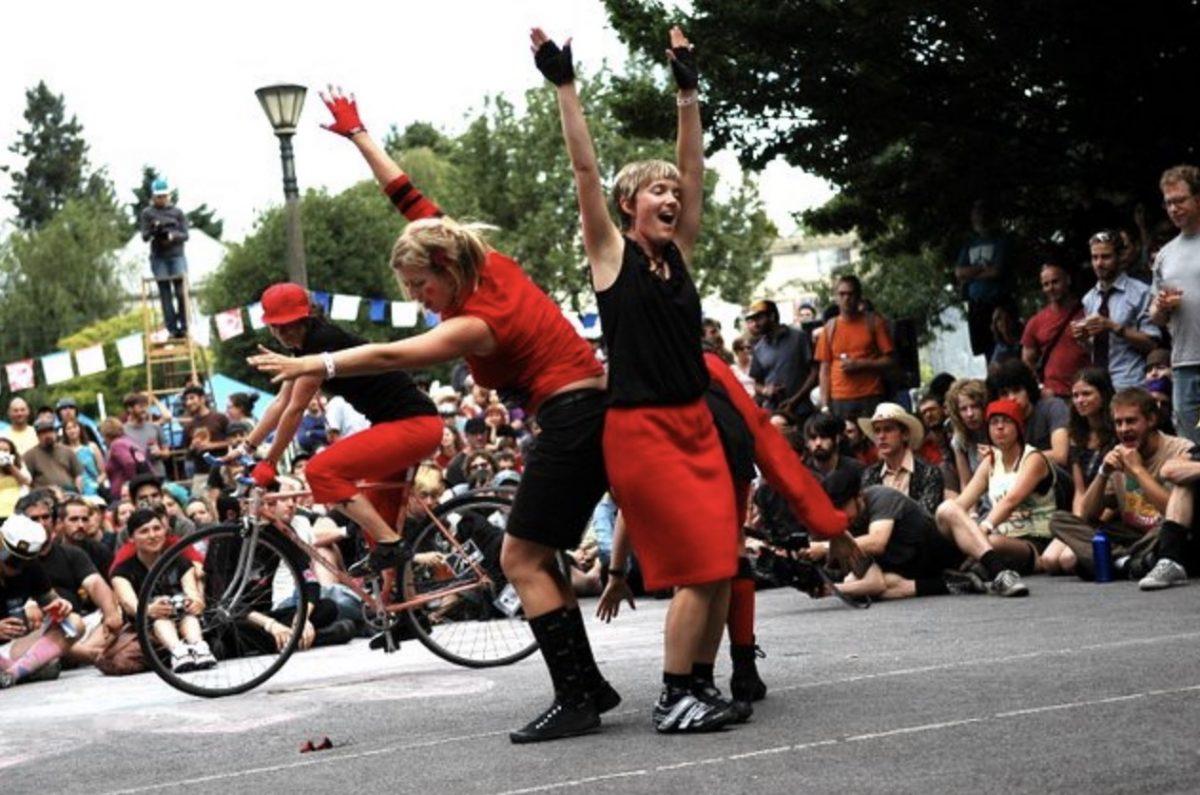 Portland's beloved 'Sprockettes' dance for final time tonight -  BikePortland org