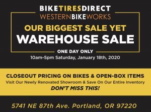 BikeTiresDirect Warehouse Sale Jan 18