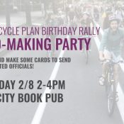 Card-Making Party for 2030 Bike Plan Rally