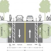 Vancouver (Washington) council says yes to protected bike lanes, no to 393 parking spaces